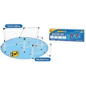 Soccer Goals Voetbaldoel Set 2 in 1