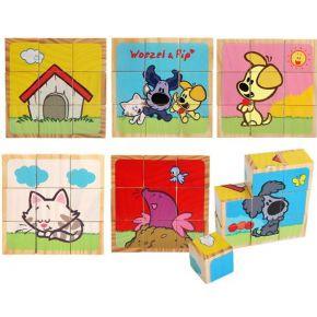 Image of Woezel & Pip houten puzzelblokken