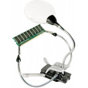 Image of Bresser 2x / 4x 88mm LED klamp loep