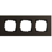 Image of 0213127 - Frame 3-gang brown 0213127