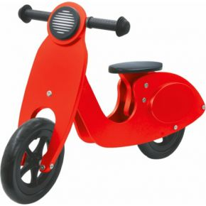 Push-Bike Wood Scooter Rood-Zwart