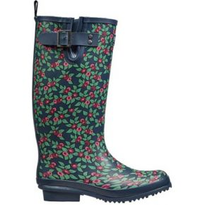 Image of Plum Floral Rubber Boots size 4/37 - Quality4All