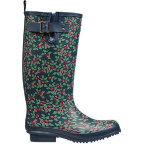 Image of Plum Floral Rubber Boots size 6/39 - Quality4All