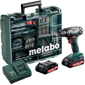 Metabo Accu-schroefboormachine 18 V 2 Ah Li-ion incl. 2 accu's, incl. accessoires, incl. koffer