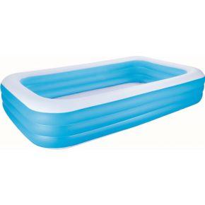 """Image of Bestway Opblaasbaar rechthoekig familioe zwembad """"DELUXE"""" - 3.05m x 1.83m x 56cm - blauw"""