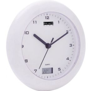 Badkamerklok -Thermometer