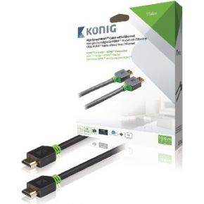 High Speed HDMI kabel met Ethernet HDMI connector HDMI connector 10,0 m grijs