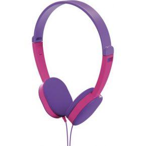Hama On-ear-stereo-koptelefoon Kids , lila-pink � �