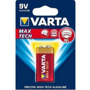 Varta Max Tech 6LR61 9 V batterij (blok) Alkali-mangaan 9 V 1 stuks