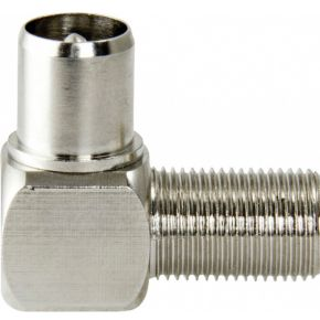 Image of Antenne Adapter F-Connector Female - Coax Male (IEC) Zilver