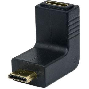 Manhattan HDMI Adapter [1x HDMI-stekker C mini <=> 1x HDMI-bus, mini] Zwart