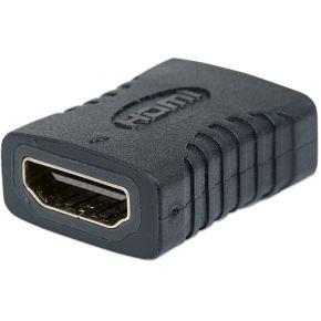 Manhattan HDMI Adapter [1x HDMI-bus <=> 1x HDMI-bus] Zwart