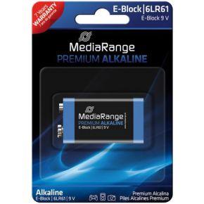 MediaRange Batterij Mediarange Prem. Blister E-Block9V 9V-6F22  1Stk (MRBAT 107)