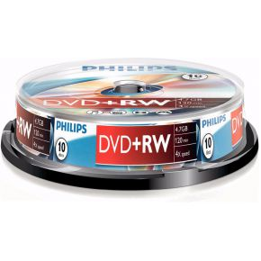 DVD+RW 10 stuks Cakebox