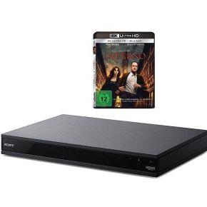 SONY UBP-X800B 4K Ultra HD blu-ray-speler, zwart incl. Inferno 4K Ultra HD blu-ray
