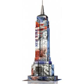 Ravensburger 3d puzzel 216 stukjes, empire state building flag edition