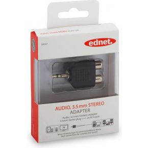 Ednet Ednet audio adapter, 1 x 3.5 mm 2 x RCA (84547)