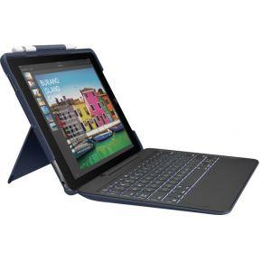 Logitech SLIM COMBO Smart Connector QWERTY Brits Engels Blauw toetsenbord voor mobiel apparaat