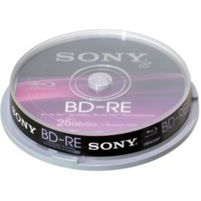 Image of Sony 10BNE25SP Blu-ray BD-RE disc 25 GB 10 stuks Spindel Herschrijfbaar