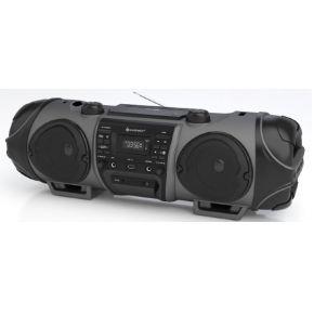 Image of DAB+ Ghettoblaster SoundMaster SCD8000 AUX, Bluetooth, CD, DAB+, FM, USB Antraciet