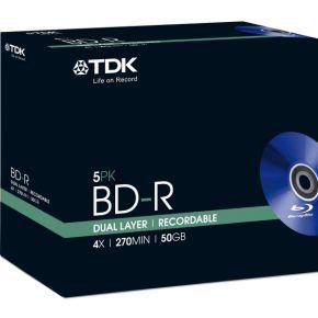 Image of TDK 5 x BD-R DL 50GB