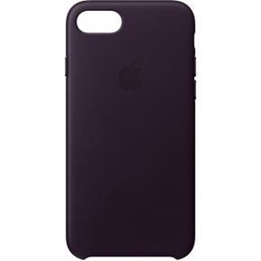 Apple Leren hoesje iPhone 8-7 Aubergine