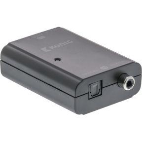Digitale audio naar stereo RCA-converter TosLink female + S-PDIF femal
