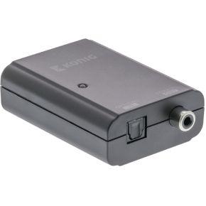 Digitale audio-converter TosLink female S-PDIF female donkergrijs -