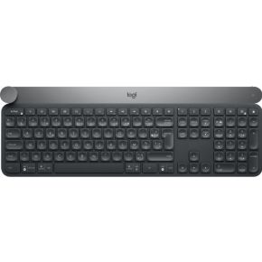 Logitech Craft RF Wireless + Bluetooth AZERTY Belgisch Zwart, Grijs toetsenbord