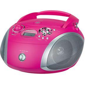 Grundig GRB 2000 Draagbare FM Radio CD, WMA, MP3 Rood-Zilver