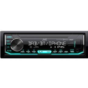 JVC KD-X451DBT Autoradio enkel DIN 4 x 50 W USB, Audio, stereo (3.5 mm jackplug)