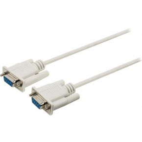 null modem kabel D-SUB 9-pin female D-SUB 9-pin female 2,00 m ivoor