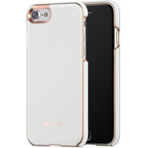 Mozo Leather Back Cover Case White voor Apple iphone 7