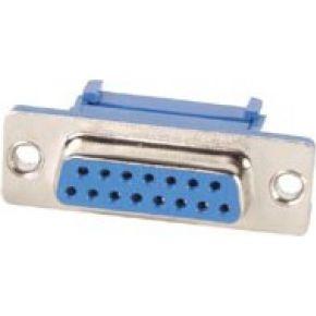 Image of Vrouwelijke 15p Sub-d Connector Voor Platte Kabel - (5 st.)