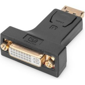 Digitus DisplayPort-DVI Adapter [1x DisplayPort stekker => 1x DVI-bus 24+5-polig] Zwart