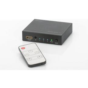 Digitus 3 poorten HDMI-switch Zwart