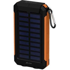 XLayer Powerbank PLUS Solar zwart oranje 8000 mAh