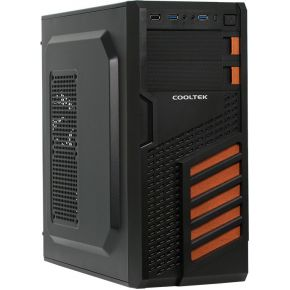 Image of Cooltek CT KX O Midi-Toren Zwart, Oranje computerbehuizing