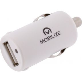Mobilize Car Charger Single USB White 2100 mAh