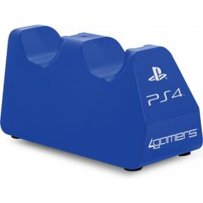 4Gamers 4Gamers 4G-4182BLU Twin Play 'n' Charge Dock USB (Blauw) PS4 (4G-4182BLU)