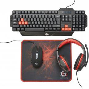 Image of Gembird GGS-UMG4-01 USB QWERTY Engels Zwart, Rood toetsenbord