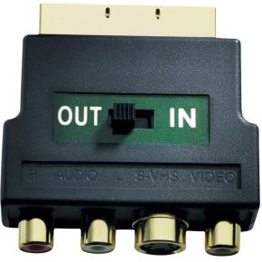 Inakustik Cinch-S-Video-SCART Adapter [3x Cinch-koppeling, S-video bus <=> 1x SCART-stekker] Zwart 0