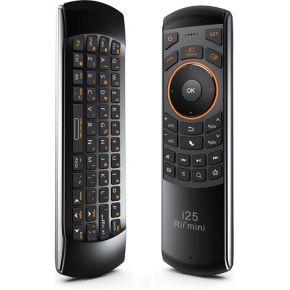 Rii Mini Wireless Keyboard i25A RF Draadloos Drukknopen Zwart, Oranje afstandsbediening