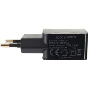 Mobilize Travel Charger Single USB 1.0A Black