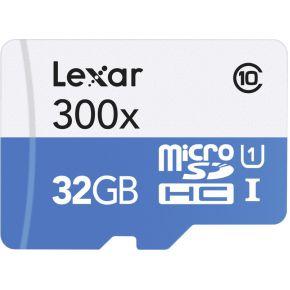 Lexar microSDHC High Speed 32GB zonder Adapter Class 10 300x