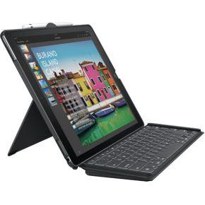 Logitech SLIM COMBO Smart Connector QWERTY Brits Engels Zwart toetsenbord voor mobiel apparaat