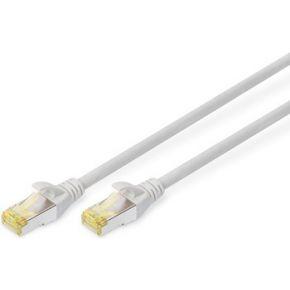 Digitus Professional RJ45 Netwerk Aansluitkabel CAT 6A S-FTP 15 m Grijs Halogeenvrij, Vervlochten pa