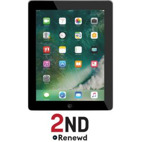 Apple 2ND iPad 4 wireless 9.6IN 16GB Zwart