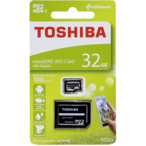 Toshiba microSDHC Class 10 32GB Exceria M203 R100 + Adapter