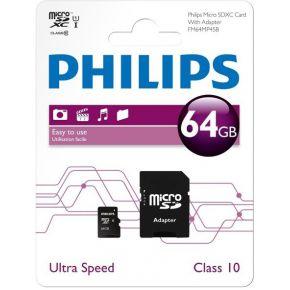 Philips Class 10 Micro SDXC-kaart 64 GB